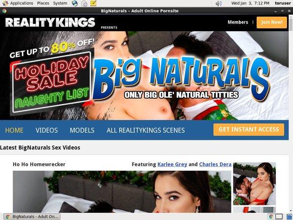Big Naturals Account 2014