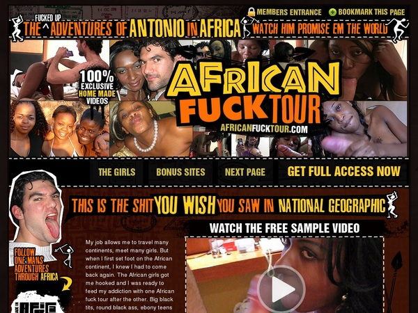 African Fuck Tour Discount Deal