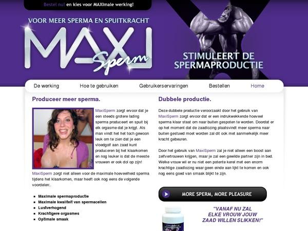 MAXI Sperm Account 2016