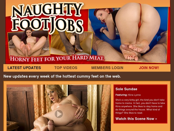 Free Account To Naughty Foot Jobs