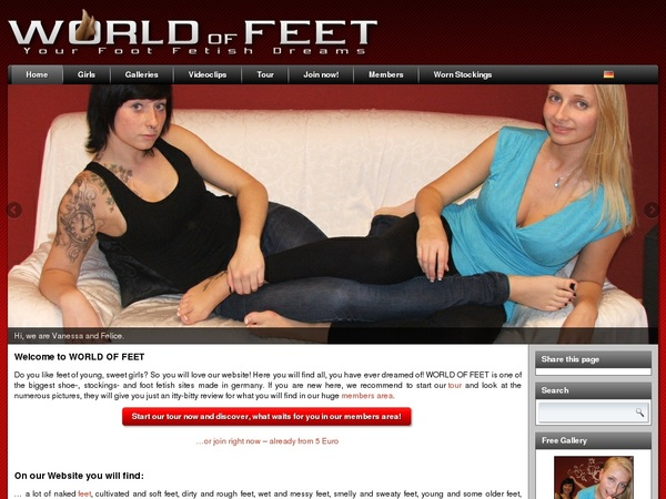 WORLD OF FEET Free Accounts And Passwords