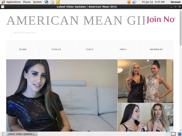 Americanmeangirls.com With Credit Card